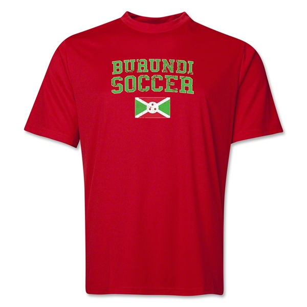 Burundi Soccer Training T-Shirt (Red)