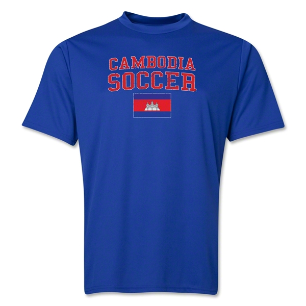 Cambodia Soccer Training T-Shirt (Royal)