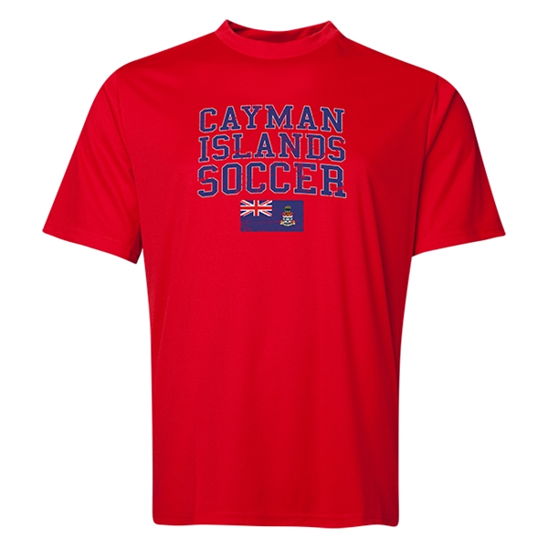 Cayman Islands Soccer Training T-Shirt (Red)