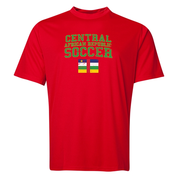 Central African Republic Soccer Training T-Shirt (Red)
