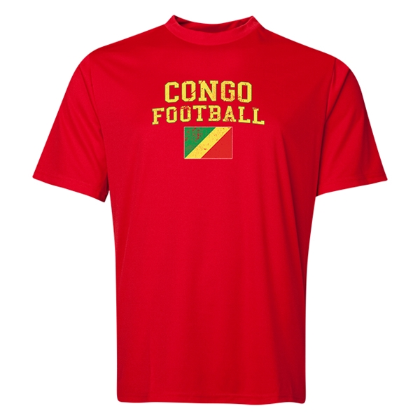 Congo Football Training T-Shirt (Red)