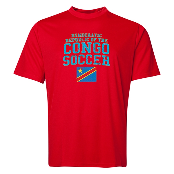 Congo DR Soccer Training T-Shirt (Red)