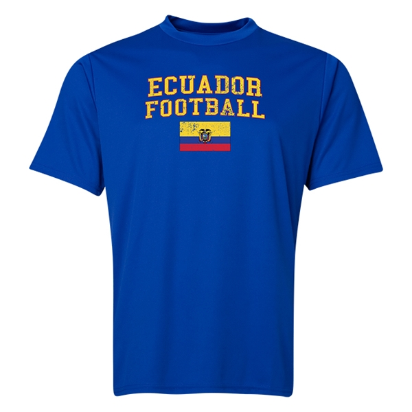 Ecuador Football Training T-Shirt (Royal)