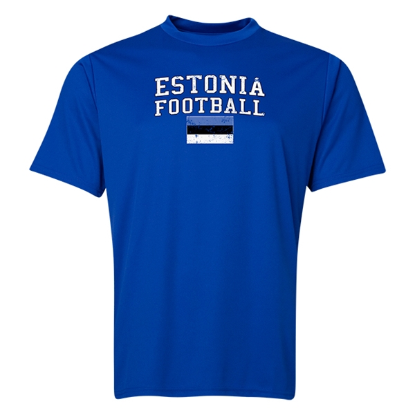 Estonia Football Training T-Shirt (Royal)