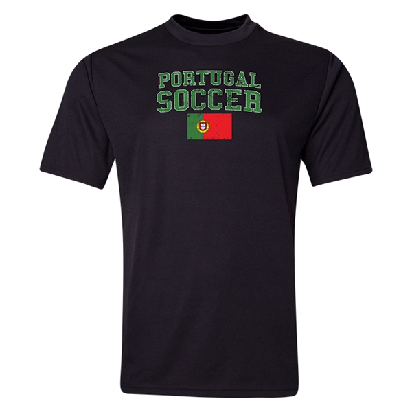 Portugal Soccer Training T-Shirt (Black)