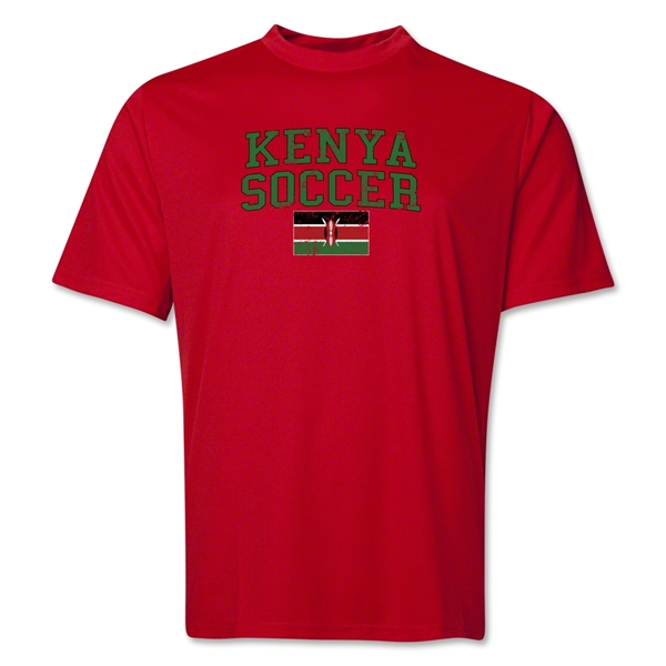 Kenya Soccer Training T-Shirt (Red)