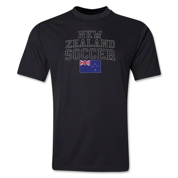 New Zealand Soccer Training T-Shirt (Black)