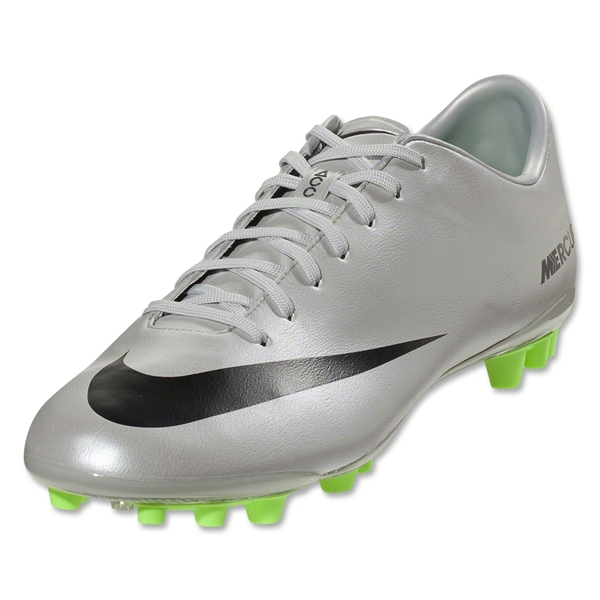 Nike Mercurial Vapor IX AG (Metallic Platinum/Electric Green)