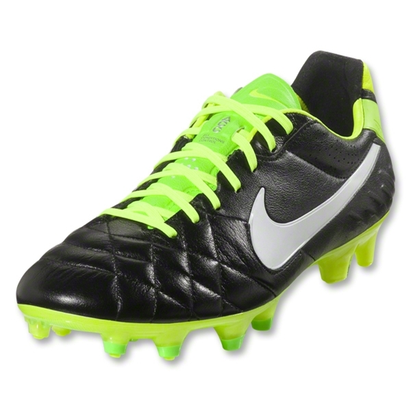 Nike Tiempo Legend IV FG Cleats (Metallic Summit White/Metallic Gold Grain/Volt)