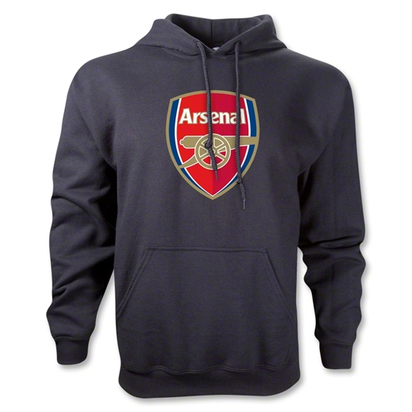 Arsenal Crest Hoody (Black)