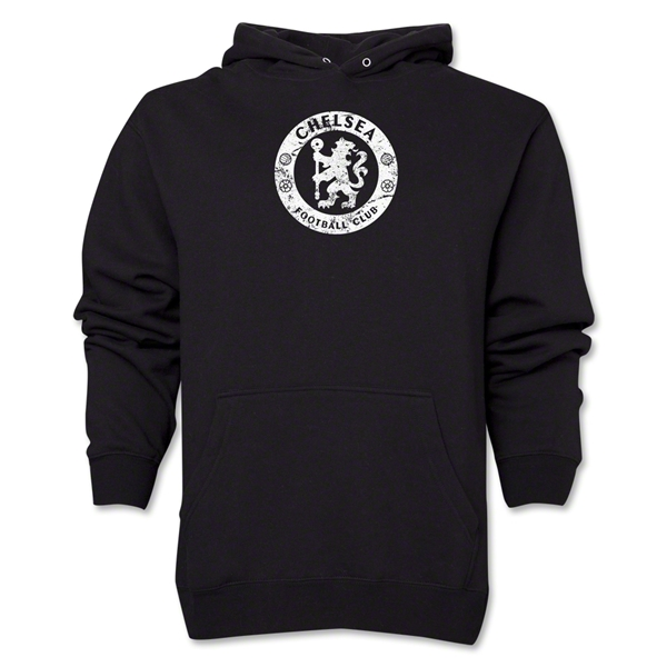Chelsea Distressed Emblem Hoody (Black)
