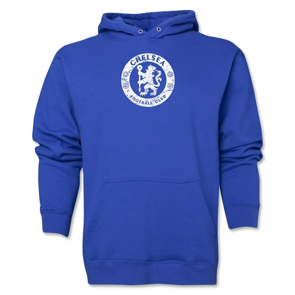 Chelsea Distressed Emblem Hoody (Royal)