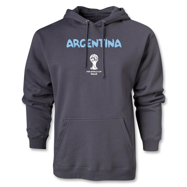 Argentina 2014 FIFA World Cup Brazil(TM) Men's Core Hoody (Dark Grey)