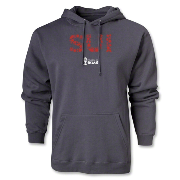 Switzerland 2014 FIFA World Cup Brazil(TM) Men's Elements Hoody (Dark Grey)