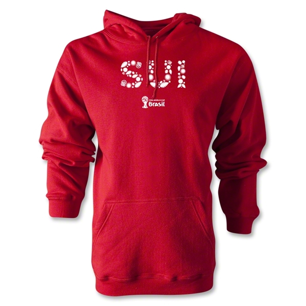 Switzerland 2014 FIFA World Cup Brazil(TM) Men's Elements Hoody (Red)