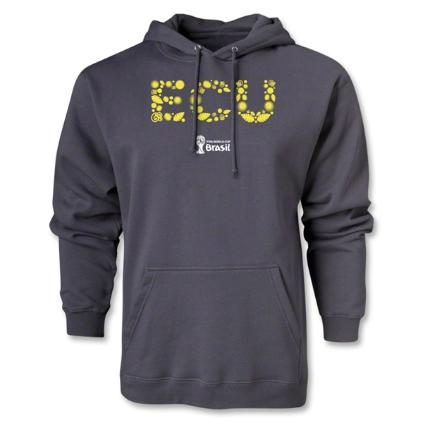 Ecuador 2014 FIFA World Cup Brazil(TM) Men's Elements Hoody (Dark Grey)