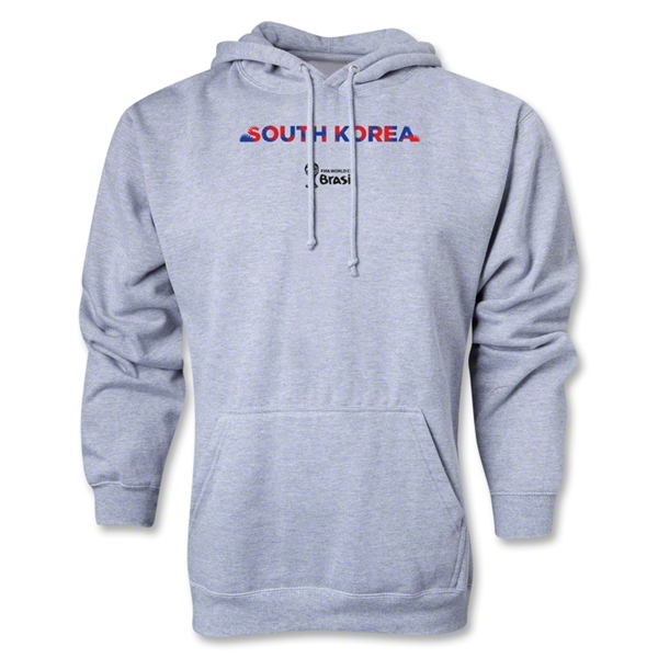 South Korea 2014 FIFA World Cup Brazil(TM) Men's Palm Hoody (Ash Gray)