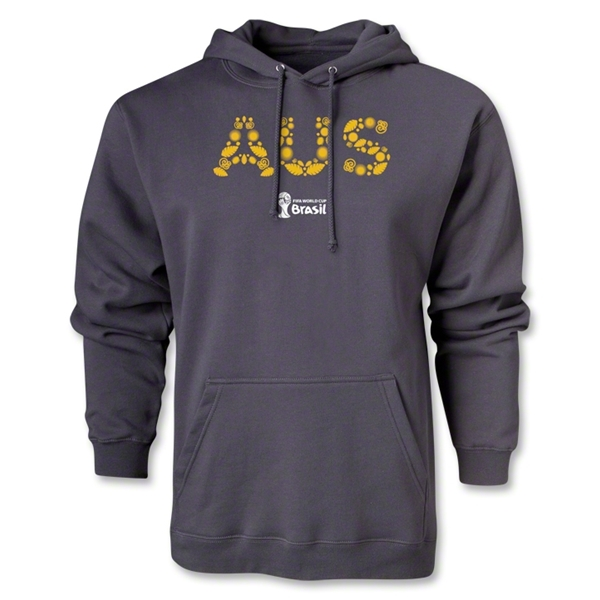 Australia 2014 FIFA World Cup Brazil(TM) Men's Elements Hoody (Dark Gray)