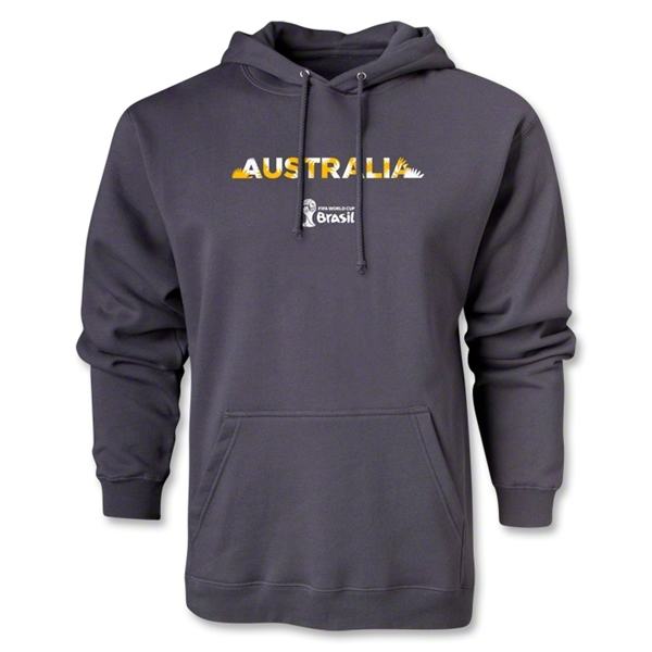Australia 2014 FIFA World Cup Brazil(TM) Men's Palm Hoody (Dark Gray)