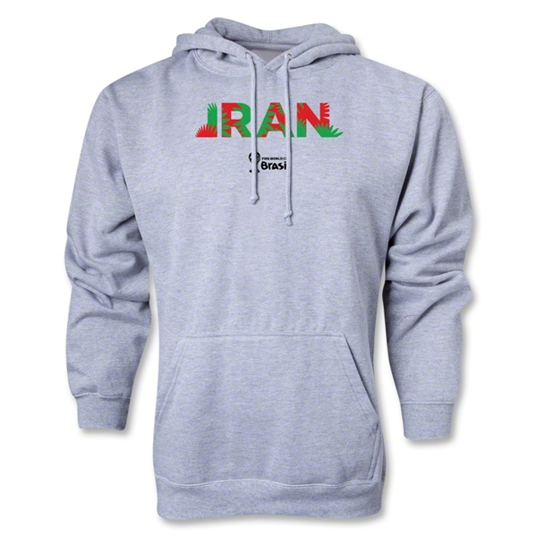 Iran 2014 FIFA World Cup Brazil(TM) Men's Palm Hoody (Ash Grey)