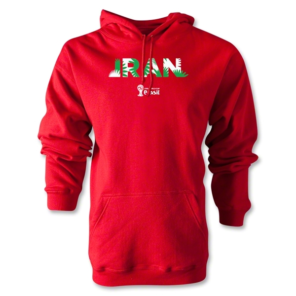 Iran 2014 FIFA World Cup Brazil(TM) Men's Palm Hoody (Red)