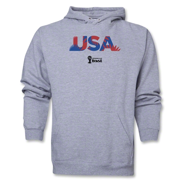USA 2014 FIFA World Cup Brazil(TM) Men's Palm Hoody (Ash)
