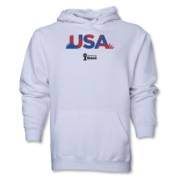 USA 2014 FIFA World Cup Brazil(TM) Men's Palm Hoody (White)
