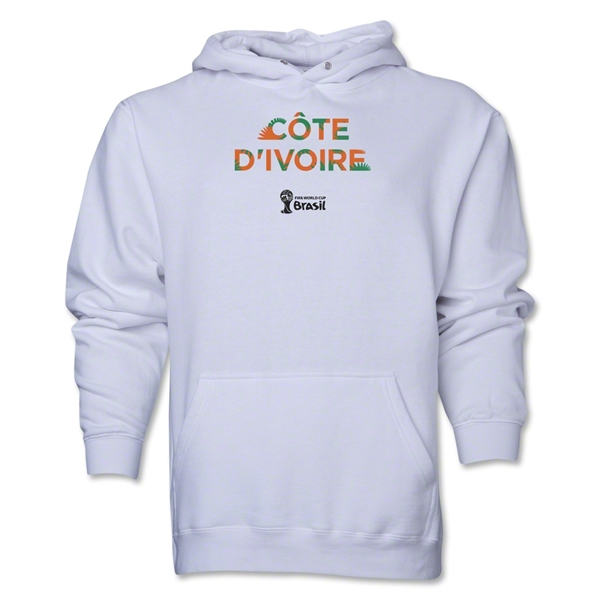 Cote d'Ivoire 2014 FIFA World Cup Brazil(TM) Men's Palm Hoody (White)