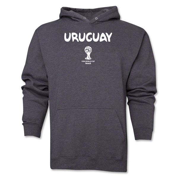 Uruguay 2014 FIFA World Cup Brazil(TM) Men's Core Hoody (Dark Grey)