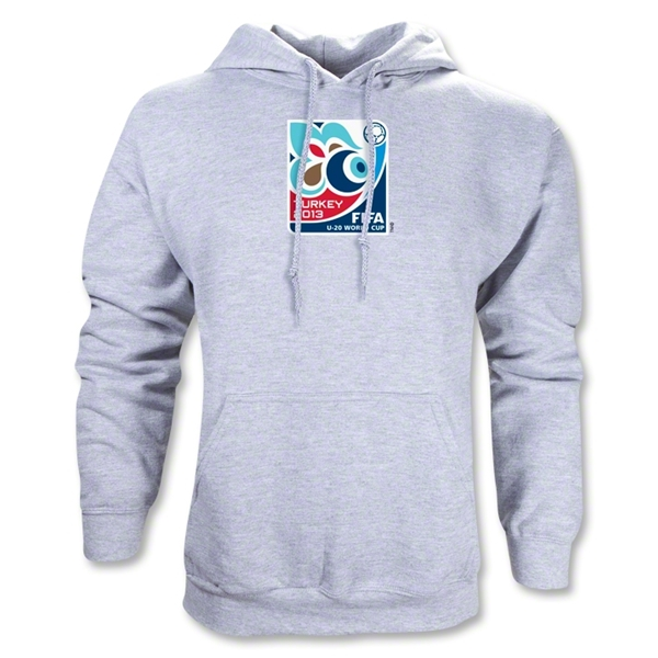 FIFA U-20 World Cup Turkey 2013 Emblem Hoody (Ash Gray)