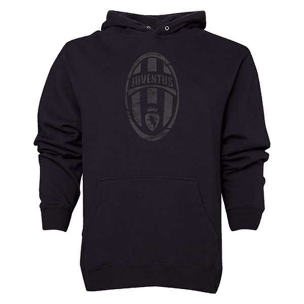Juventus Distressed Logo Hoody (Black)