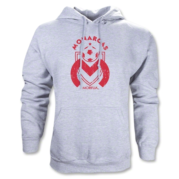Morelia Monarcas Distressed Logo Hoody (Gray)