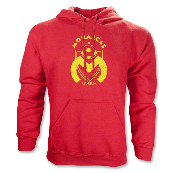 Morelia Monarcas Distressed Logo Hoody (Red)