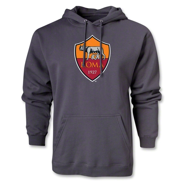 AS Roma Crest Hoody (Dark Gray)