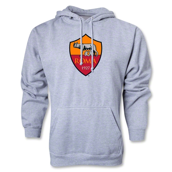 AS Roma Crest Hoody (Ash Gray)