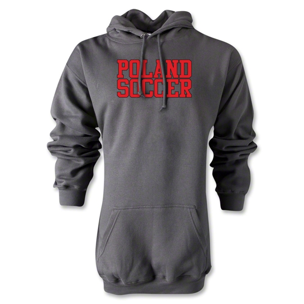 Poland Soccer Supporter Hoody (Gray)