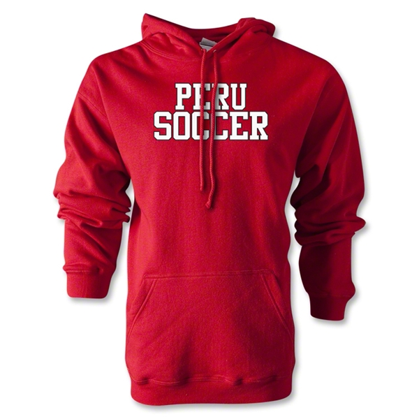 Peru Soccer Supporter Hoody (Red)