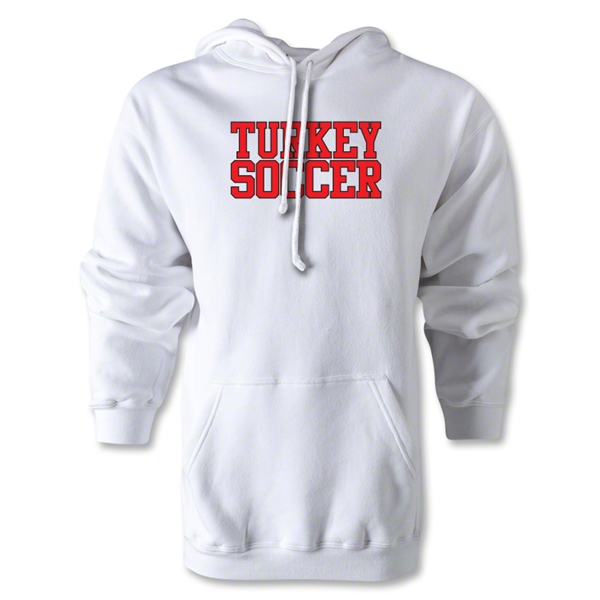 Turkey Soccer Supporter Hoody (White)