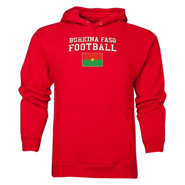 Burkina Faso Football Hoody (Red)