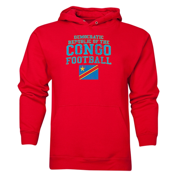 Congo DR Football Hoody (Red)