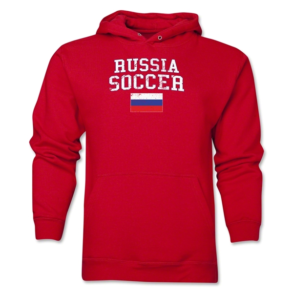 Russia Soccer Hoody (Red)