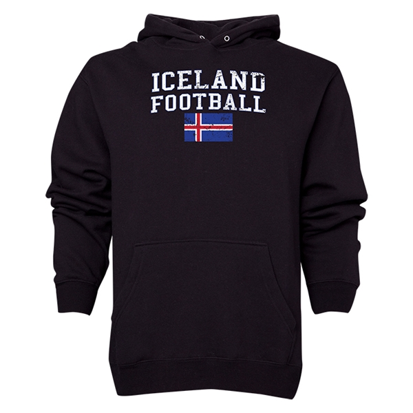 Iceland Football Hoody (Black)