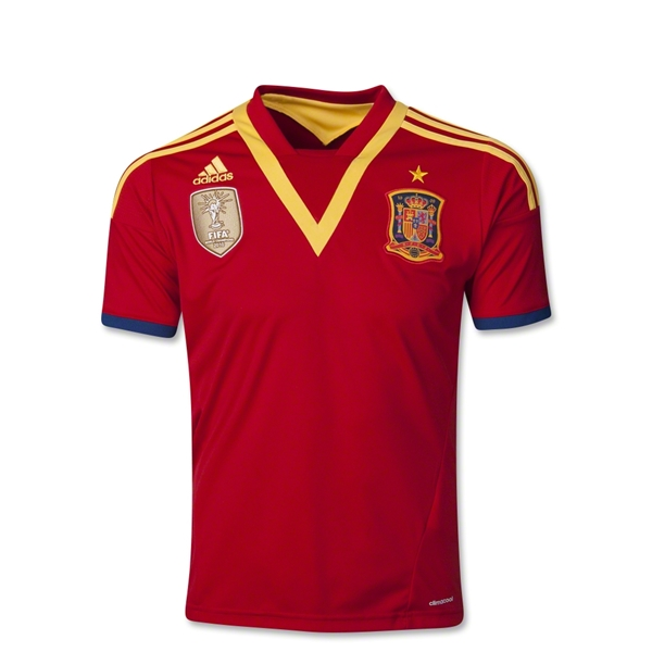 Spain 2013 Youth Home Soccer Jersey