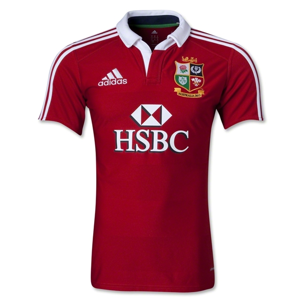 British and Irish Lions 2013 Players Test Rugby Jersey
