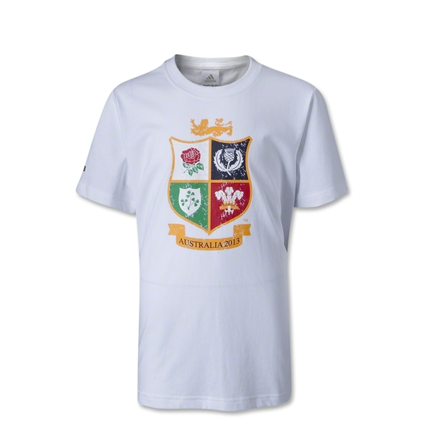 British and Irish Lions Youth Distressed T-Shirt (White)
