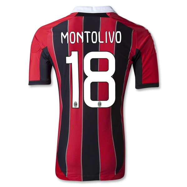 AC Milan 12/13 MONTOLIVO Authentic Home Soccer Jersey