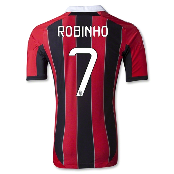 AC Milan 12/13 ROBINHO Authentic Home Soccer Jersey