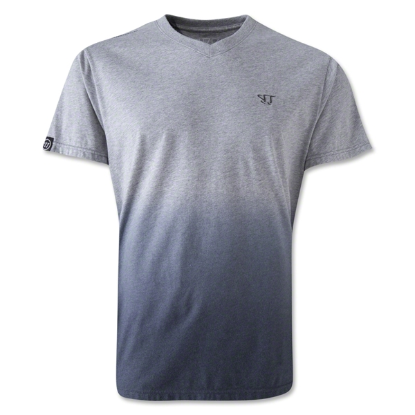 Warrior 50/50 Fade V-Neck T-Shirt (Gray)