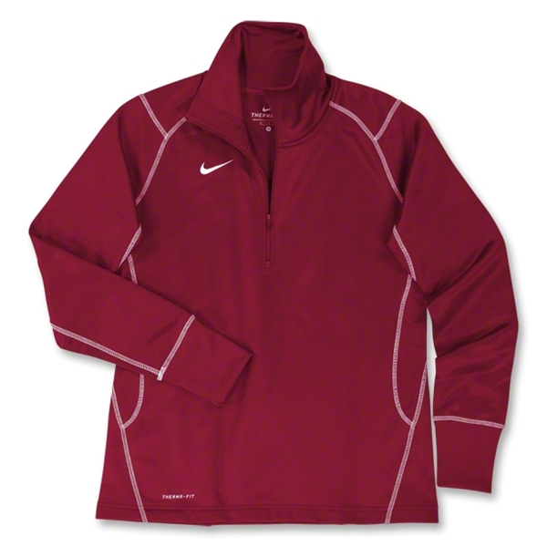 Nike Women's 1/4 Zip Performance Thermal Top (Cardinal)