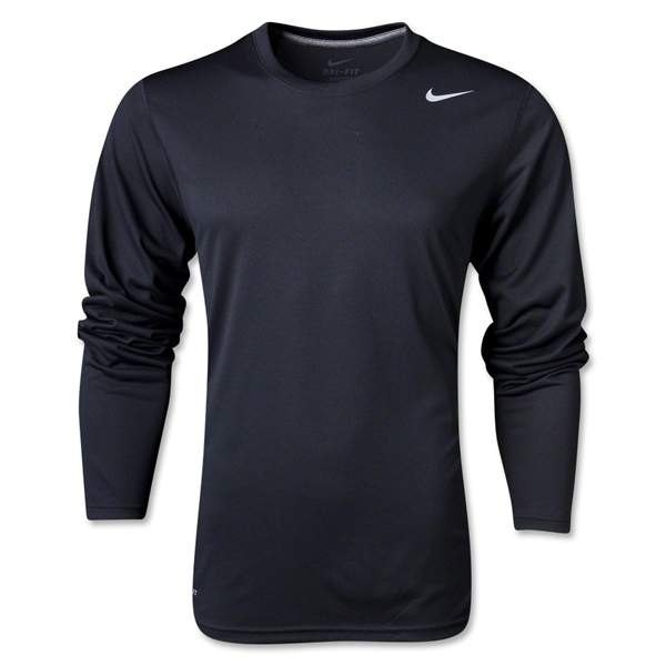 Nike Legend Long Sleeve Poly Top (Black)